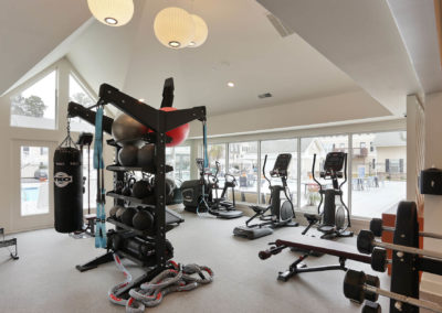 Gym with Amenities at The Rowan Apartments