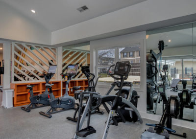 Gym with Ellipticals in the Background